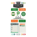 Scrapbook Customs - Adventure Collection - Cardstock Stickers - Dublin City