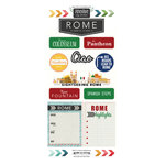 Scrapbook Customs - Adventure Collection - Cardstock Stickers - Rome City