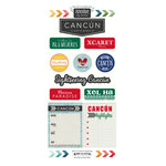 Scrapbook Customs - Adventure Collection - Cardstock Stickers - Cancun City