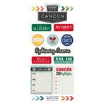 Scrapbook Customs - Adventure Collection - Cardstock Stickers - Cancun City