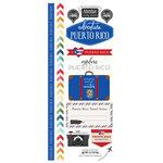 Scrapbook Customs - Adventure Collection - Cardstock Stickers - Puerto Rico