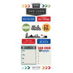 Scrapbook Customs - Adventure Collection - Cardstock Stickers - San Juan City