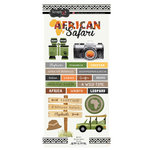 Scrapbook Customs - African Safari Collection - Cardstock Stickers