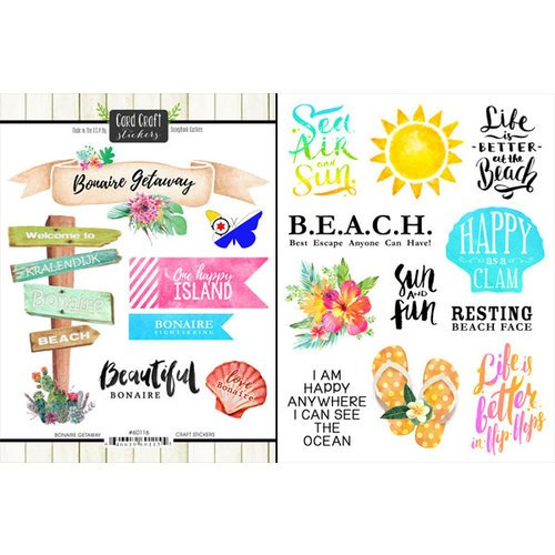 Scrapbook Customs - World Collection - Bonaire - Cardstock Stickers - Getaway