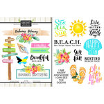Scrapbook Customs - World Collection - Bahamas - Cardstock Stickers - Getaway