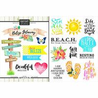 Scrapbook Customs - World Collection - Belize - Cardstock Stickers - Getaway
