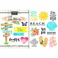 Scrapbook Customs - World Collection - Cuba - Cardstock Stickers - Getaway