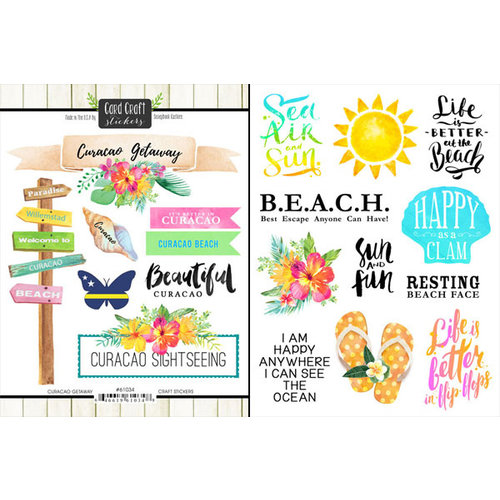 Scrapbook Customs - World Collection - Curacao - Cardstock Stickers - Getaway