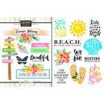 Scrapbook Customs - World Collection - Curacao - Cardstock Stickers - Getaway