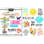 Scrapbook Customs - World Collection - Grand Cayman - Cardstock Stickers - Getaway