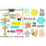 Scrapbook Customs - World Collection - Grand Turk - Cardstock Stickers - Getaway