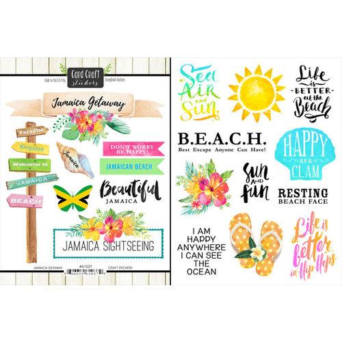 Scrapbook Customs - World Collection - Jamaica - Cardstock Stickers -  Getaway
