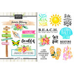 Scrapbook Customs - World Collection - Jamaica - Cardstock Stickers - Getaway