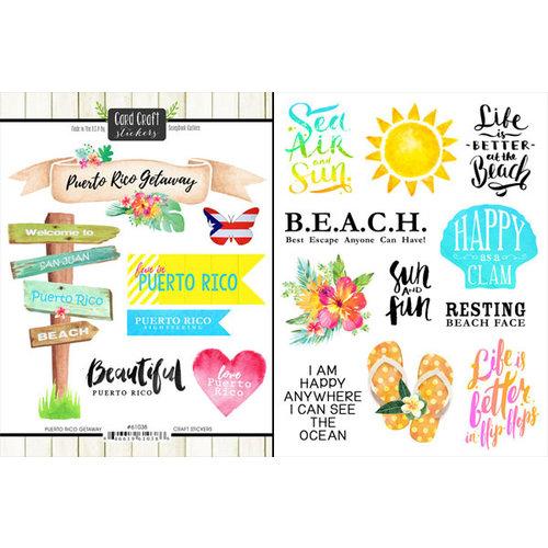 Scrapbook Customs - World Collection - Puerto Rico - Cardstock Stickers - Getaway