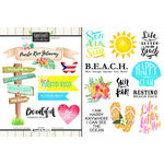 Scrapbook Customs - World Collection - Puerto Rico - Cardstock Stickers - Getaway