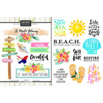 Scrapbook Customs - World Collection - St. Martin - Cardstock Stickers - Getaway
