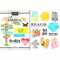 Scrapbook Customs - World Collection - St. Kitts - Cardstock Stickers - Getaway