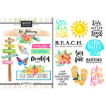 Scrapbook Customs - World Collection - Fiji - Cardstock Stickers - Getaway