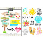 Scrapbook Customs - World Collection - Tahiti - Cardstock Stickers - Getaway