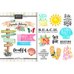 Scrapbook Customs - World Collection - Mexico - Cardstock Stickers - Getaway - Ensenada