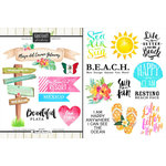 Scrapbook Customs - World Collection - Mexico - Cardstock Stickers - Getaway - Playa del Carmen