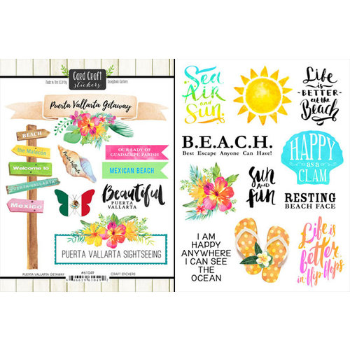 Scrapbook Customs - World Collection - Mexico - Cardstock Stickers - Getaway - Puerto Vallarta