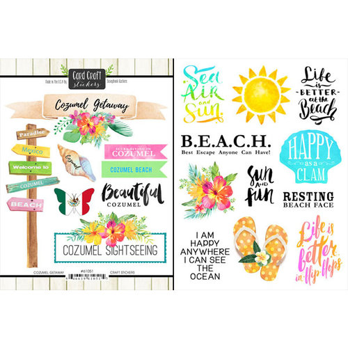 Scrapbook Customs - World Collection - Mexico - Cardstock Stickers - Getaway - Cozumel