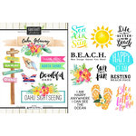 Scrapbook Customs - World Collection - USA - Cardstock Stickers - Getaway - Oahu