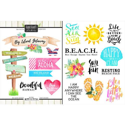 Scrapbook Customs - World Collection - USA - Cardstock Stickers - Getaway - Big Island