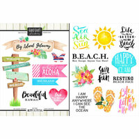 Scrapbook Customs - World Collection - USA - Cardstock Stickers - Getaway - Big Island