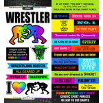 Scrapbook Customs - Neon Sports Collection - Wrestling - Cardstock Stickers