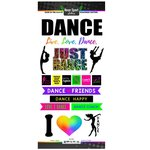 Scrapbook Customs - Neon Sports Collection - Dance - Cardstock Stickers