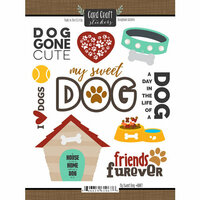 Scrapbook Customs - Puppy Love Collection - Cardstock Stickers - My Sweet Dog