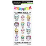 Scrapbook Customs - Celebrations Collection - Cardstock Stickers - Day of the Dead Skulls
