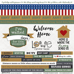 Scrapbook Customs - Military Collection - 12 x 12 Cardstock Stickers - Army - Home