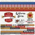 Scrapbook Customs - Military Collection - 12 x 12 Cardstock Stickers - Marine - Home