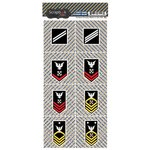 Scrapbook Customs - Military Collection - Cardstock Stickers - Navy - Rank and Corners