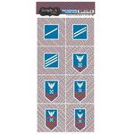 Scrapbook Customs - Military Collection - Cardstock Stickers - Coast Guard - Rank and Corners