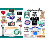 Scrapbook Customs - Occupations Collection - Cardstock Stickers - Doctor MD