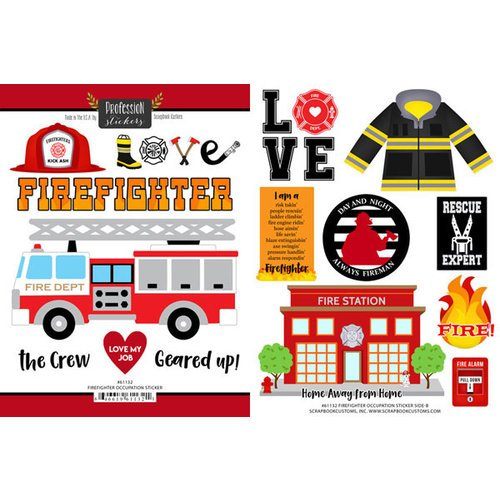 Scrapbook Customs - Occupations Collection - Cardstock Stickers - Firefighter