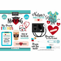 Scrapbook Customs - Occupations Collection - Cardstock Stickers - Nurse, RN and LPN