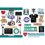 Scrapbook Customs - Occupations Collection - Cardstock Stickers - PA