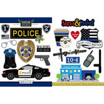 Scrapbook Customs - Occupations Collection - Cardstock Stickers - Police