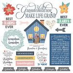 Scrapbook Customs - Family Collection - 12 x 12 Cardstock Stickers - Grandparents