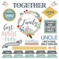 Scrapbook Customs - Family Collection - 12 x 12 Cardstock Stickers - Extended