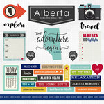 Scrapbook Customs - Canadian Province Adventure Collection - 12 x 12 Cardstock Stickers - Alberta