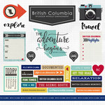 Scrapbook Customs - Canadian Province Adventure Collection - 12 x 12 Cardstock Stickers - British Columbia