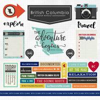 Scrapbook Customs - Canadian Province Adventure Collection - 12 x 12 Cardstock Stickers - British Columbia