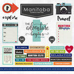 Scrapbook Customs - Canadian Province Adventure Collection - 12 x 12 Cardstock Stickers - Manitoba