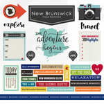 Scrapbook Customs - Canadian Province Adventure Collection - 12 x 12 Cardstock Stickers - New Brunswick